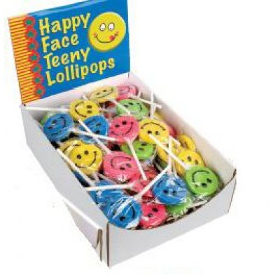 TEENY HAPPY FACE LOLLIPOPS 96ct.