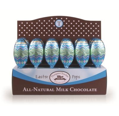 Thompson Milk Chocolate Easter Egg Pops 48ct.