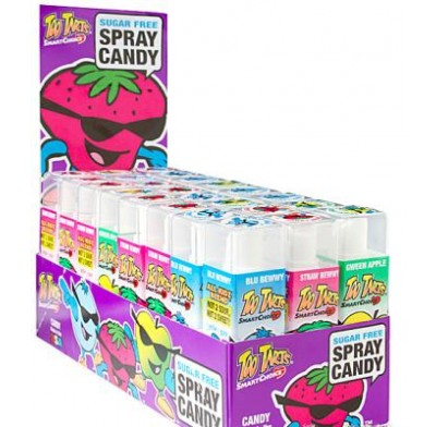 TOO TARTS<BR>SUGARFREE SPRAY CANDY 24ct.