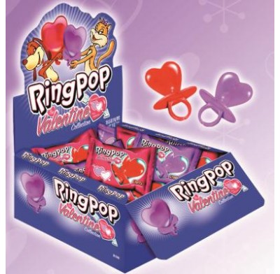BE MINE<BR>HEART-SHAPED<BR>RING POPS 36ct.