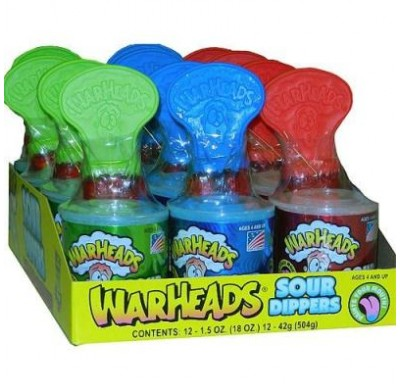 WARHEADS SOUR DIPPERS 12ct.
