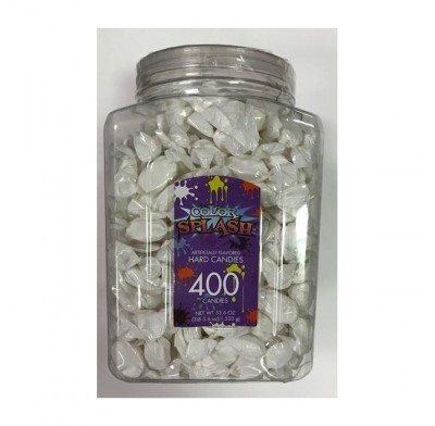 Wrapped Hard Candy White Foil 400ct.