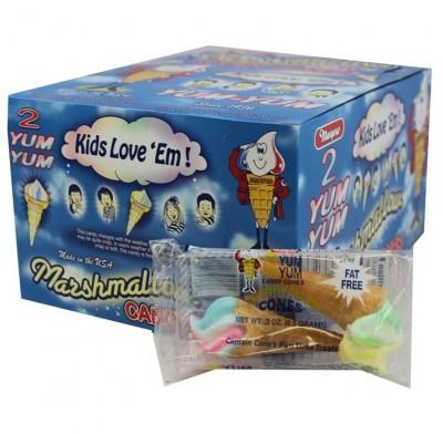 Yum Yum Marshmallow Cones 2pc. 24ct.