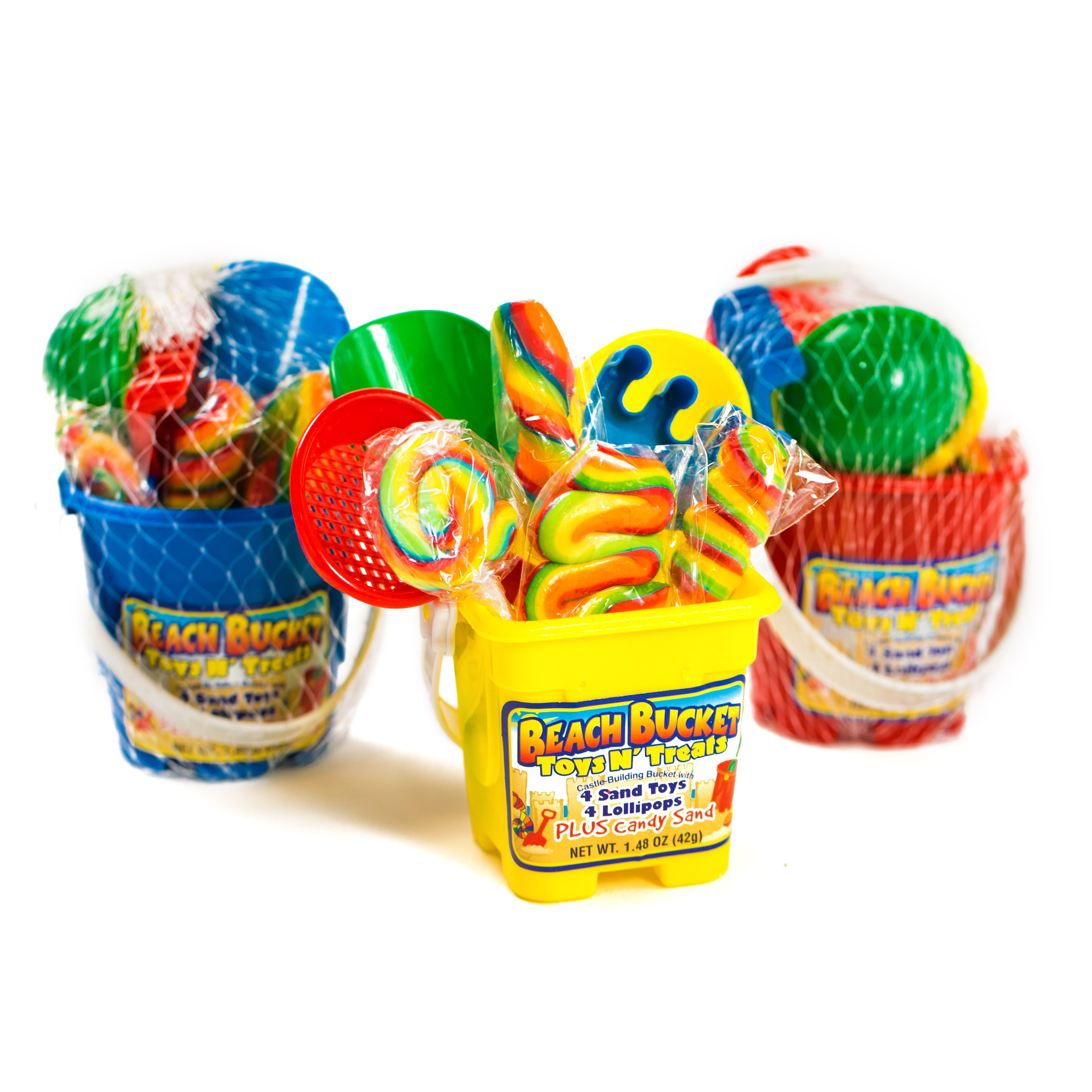 Beach Bucket Toy N Treats Candy Beach Pail 12ct Sweet