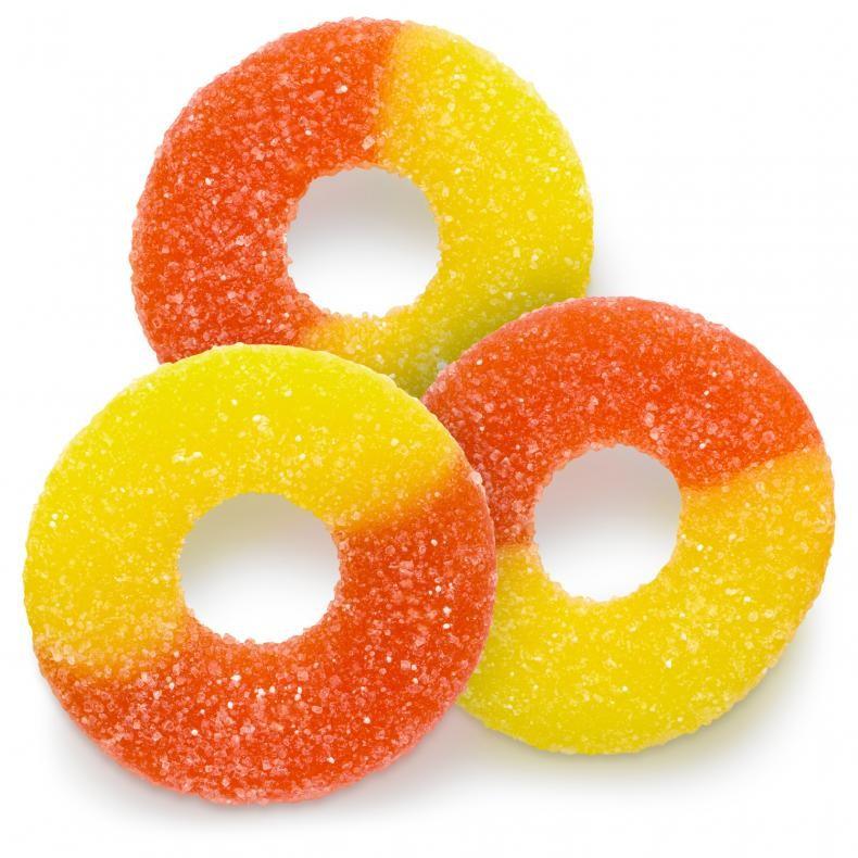 Gummy Peach Os Sour Chewy Candy