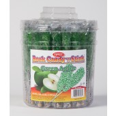 Rock Candy on a Stick 36ct. Tub Green (Green Apple Flavor)