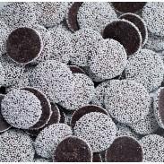 Nonpareils Dark Chocolate With White Seeds 1 lb. Bag