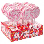 Whirly Pop Lollipops 1.5oz. 24ct. Light Pink & White (display NOT included)