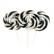 WHIRLY POP LOLLIPOPS 1.5oz. 24ct. BLACK & WHITE