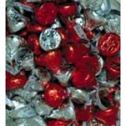 Hershey Kisses Red, Silver & Pink Foil