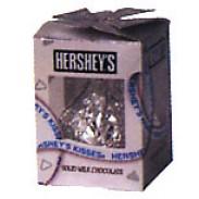 HERSHEY 7oz GIANT KISSSILVER FOIL