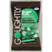 GO LIGHTLY SUGARFREE BAGS 2.75oz. CHOCOLATE MINT