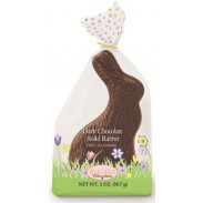 Merckens Cello Wrapped Dark Chocolate Sitting Rabbit 2oz.
