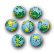 CHOC FOILED EARTH BALLS