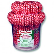 Candy Canes 1oz.  In Pail 80ct.