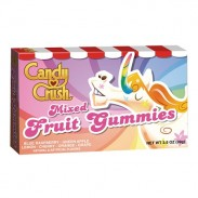 Candy Crush Mixed Fruit Gummies 3.5oz. Movie Theater Box