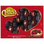 CELLAS CHERRIES HEART BOX 6oz.