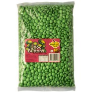 Chocolate Gems (Buttons) Milk Chocolate Green 2.2 lbs.