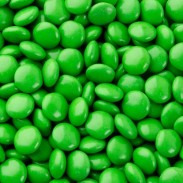 Chocolate Buttons (Gems) Milk Chocolate Green