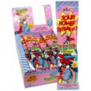 Sour Power Straws Cotton Candy 1.75oz.  24ct.