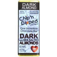 Chip 'n Dipped Dark Chocolate with Sea Salted Almonds 3oz. Bar