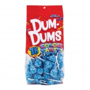 Dum Dums Ocean Blue - Cotton Candy Lollipops 75ct.