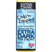 Chip 'n Dipped 72% Extra Dark Chocolate Bar 2.8oz