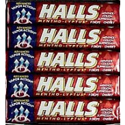 HALLS COUGH DROPS CHERRY