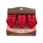 *Thompson Red Foil Milk Chocolate Heart Lollipops 1oz. 24ct.