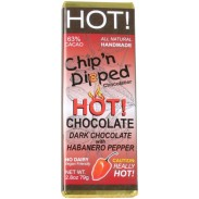 Chip 'n Dipped  HOT! Dark Chocolate with Habanero Pepper 2.8oz. Bar