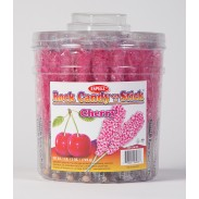 Rock Candy on a Stick 36ct. Tub Pink (Cherry Flavor)