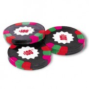 POKER CHIPS DARK MINT CHOCOLATES