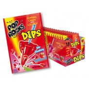 Pop Rocks Dips Sour Strawberry 18ct.