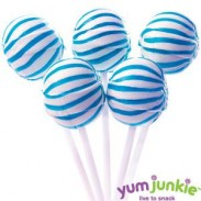 SASSY SPHERESSTRIPED LOLLIPOPSBLUE & WHITE 100ct.