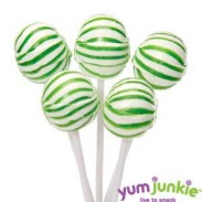 SASSY SPHERESSTRIPED LOLLIPOPSGREEN & WHITE 100ct.
