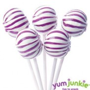 SASSY SPHERESSTRIPED LOLLIPOPSPURPLE & WHITE 100ct.