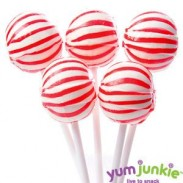 SASSY SPHERESSTRIPED LOLLIPOPSRED & WHITE 100ct.