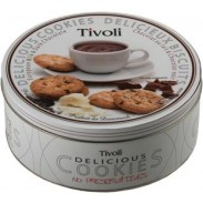 TIVOLI EUROPEANMILK & DARK CHOC.COOKIE TIN 5.29oz.