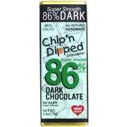 Chip 'n Dipped 86% Super Dark Chocolate Bar 2.8oz