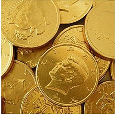 Gold Coins Half Dollar Size - 1lb Bag