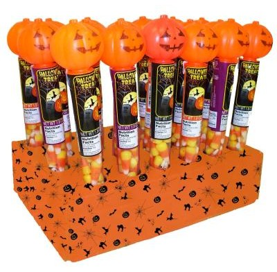 HALLOWEEN TUBE<br />FILLED WITH<br />CANDY CORN