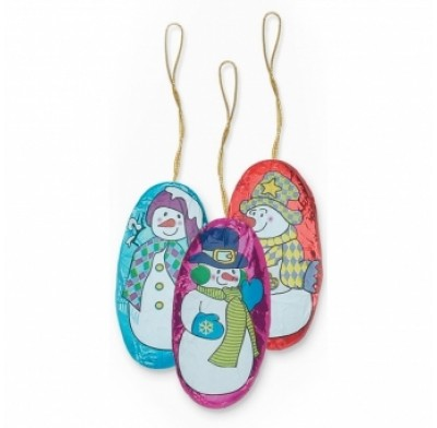 Snowman Ornament Milk Chocolate