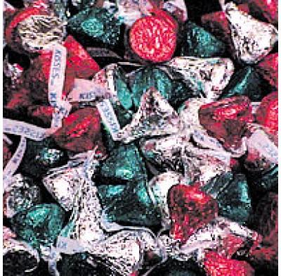 HERSHEY KISSES CHRISTMAS COLORS