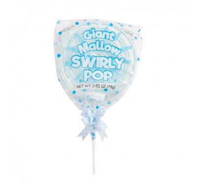 Giant Mallow Swirly Pop Blue 2.5oz 12ct