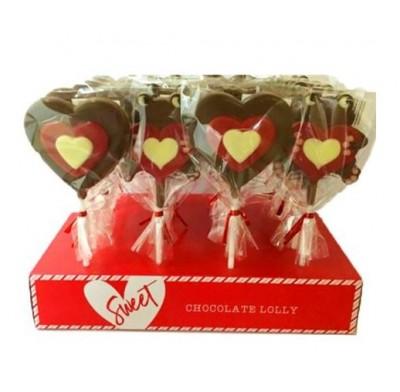 Valentine Chocolate Pop 12ct. .88oz