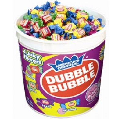 Dubble Bubble Assorted Flavors 300ct. Tub