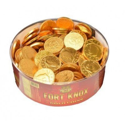 Fort Knox Gold Coins Half Dollar size - 180ct Tub