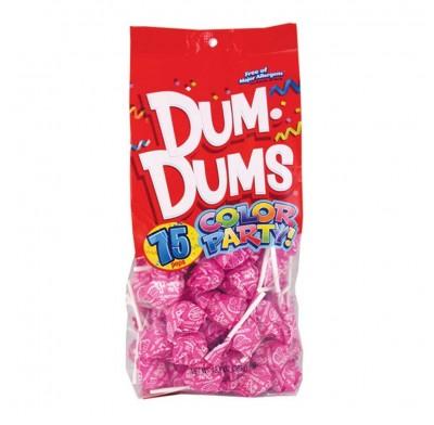 Dum Dums Hot Pink-Watermelon Lollipops 75ct.