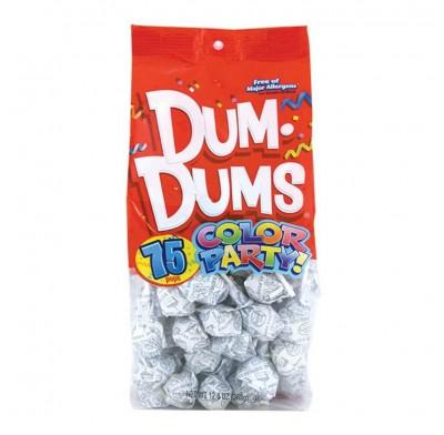 Dum Dums White-Birthday Cake Lollipops 75ct.