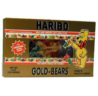 HARIBO GOLD BEARS 4oz. MOVIE THEATER BOX